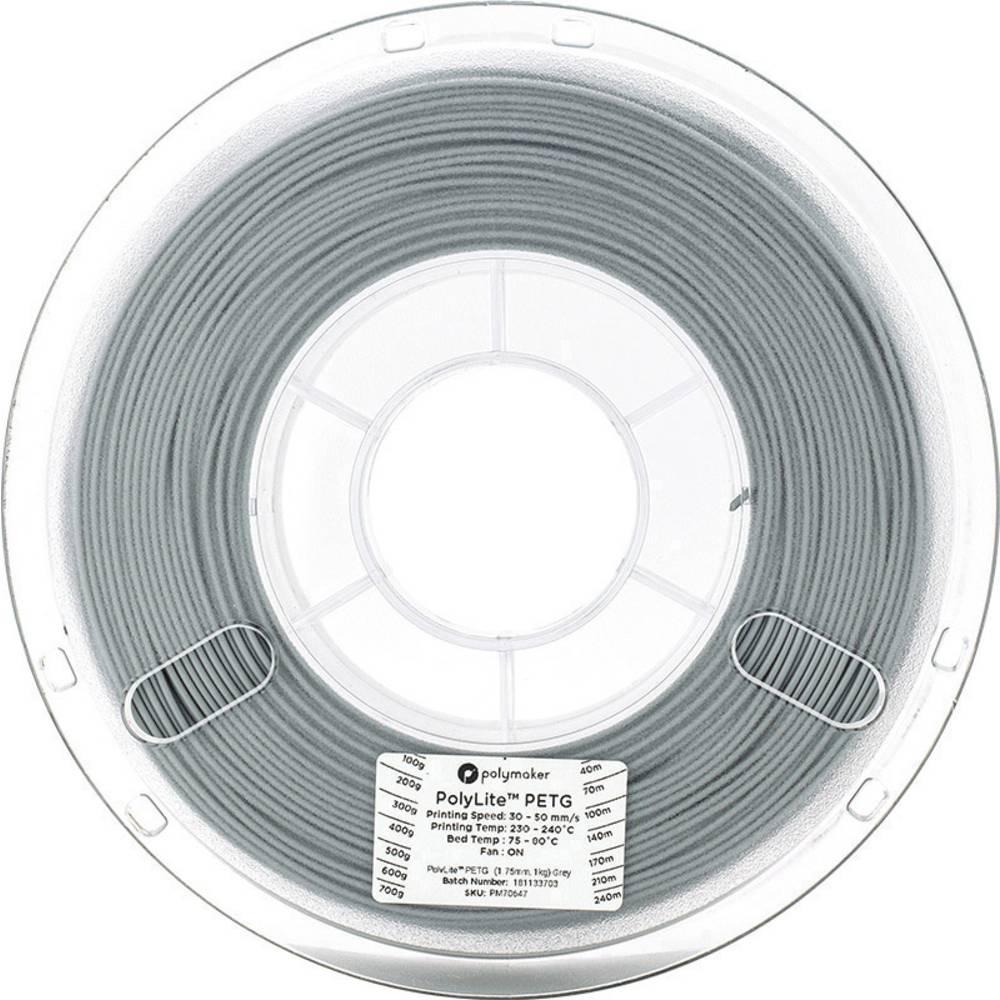 Polymaker 70648 3D-skrivare Filament PETG 2.85 mm 1 kg Grå PolyLite 1 st