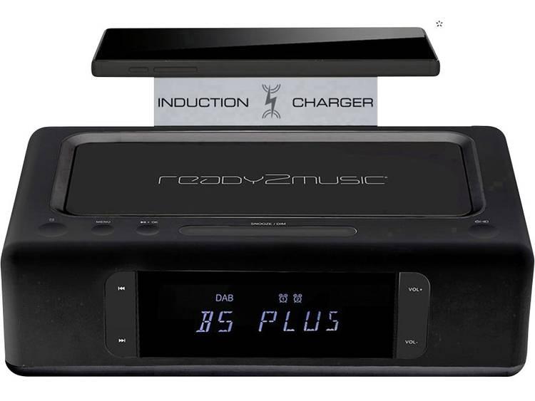 ready2music Aurora+ Wekkerradio DAB+, FM AUX, Bluetooth, USB Accu laadfunctie Zw
