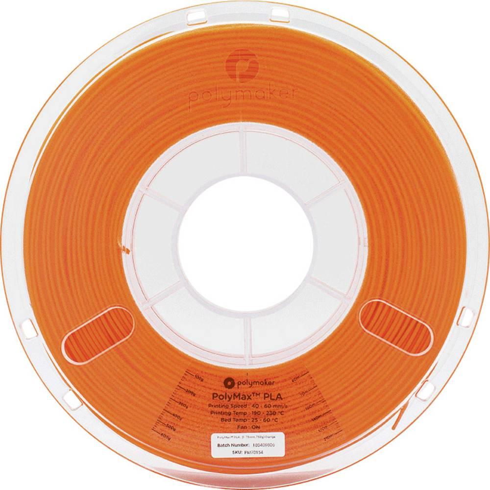 Polymaker 70158 PolyMax 3D-skrivare Filament PLA-plast 2.85 mm 750 g Orange PolyMax 1 st