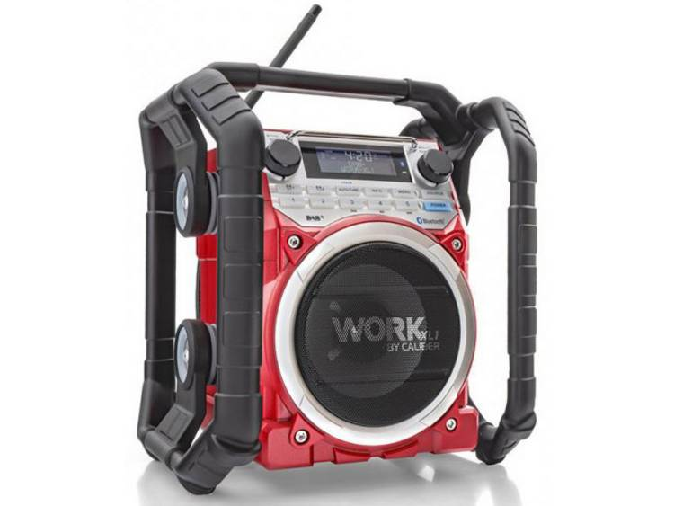 Caliber Audio Technology WORKXL1 Bouwradio DAB+, FM AUX, Bluetooth Accu laadfunc