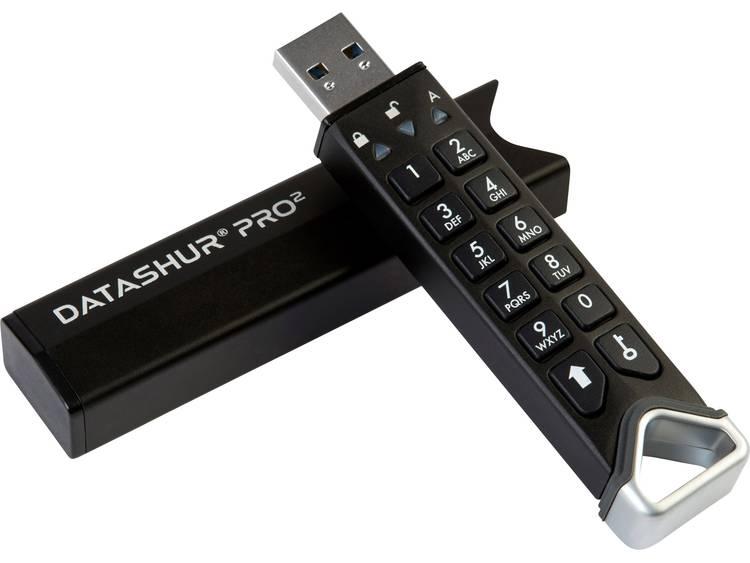 iStorage datAshur Pro2 USB-stick 256 GB USB 3.2 (Gen 1x1) Zwart IS-FL-DP2-256-256