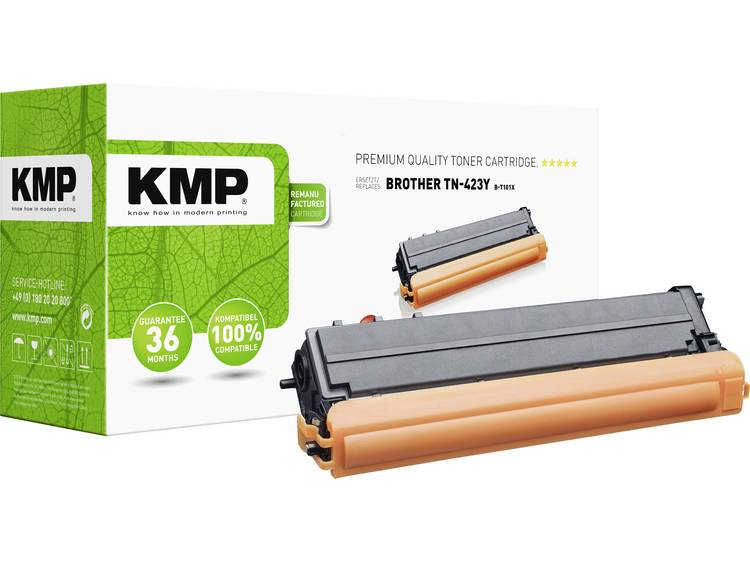 KMP Tonercassette vervangt Brother TN 423Y TN423Y Compatibel Geel 4000 bladzijd