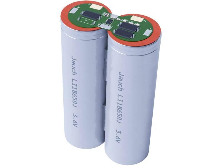 Jauch Quartz 1S2P LI-NCR18650BF Accupack Li-ion 3.6 V 6700 mAh 18650 Kabel