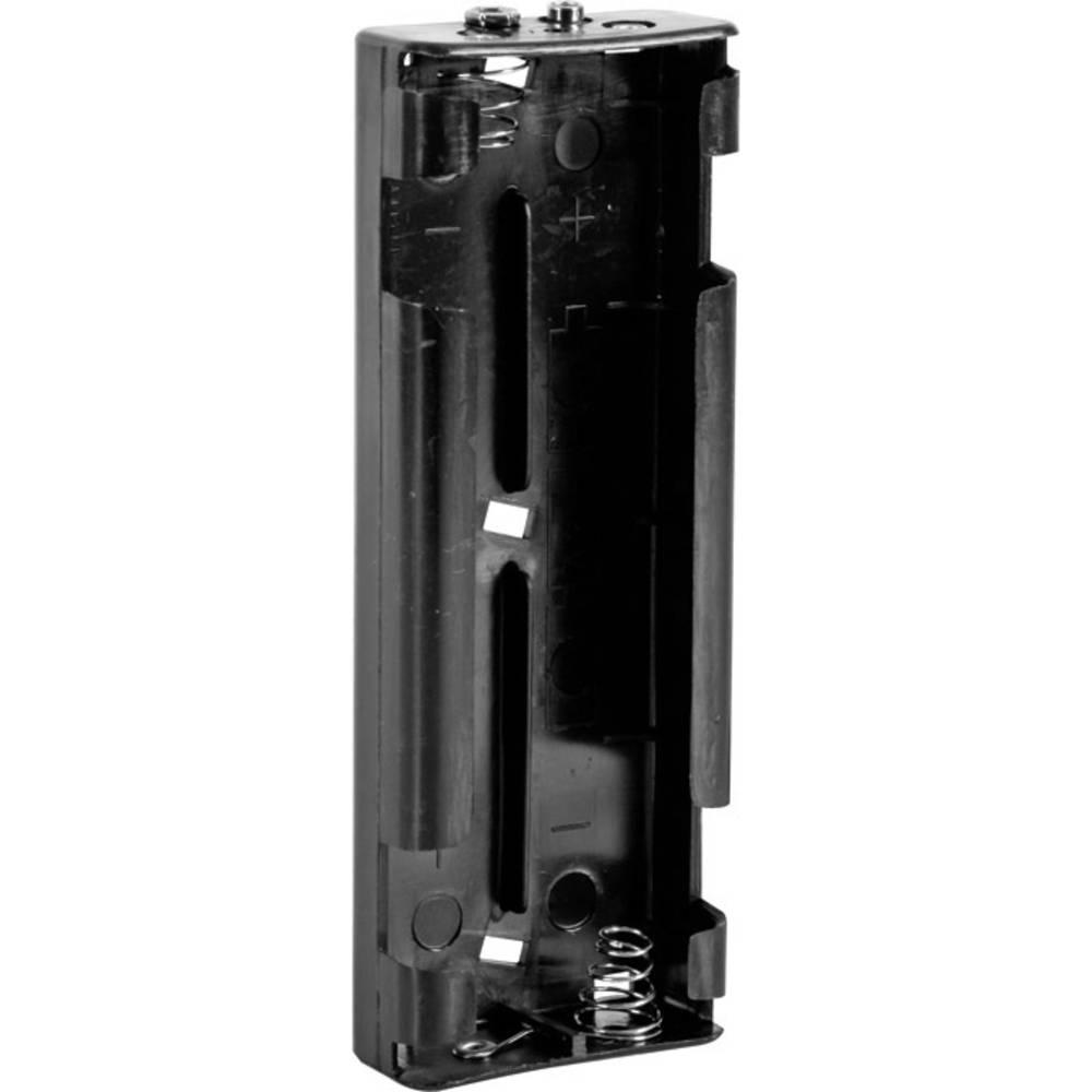 Velleman BH261B Batterihållare 6x R14 Tryckknappsanslutning (L x B x H) 159 x 57 x 25 mm