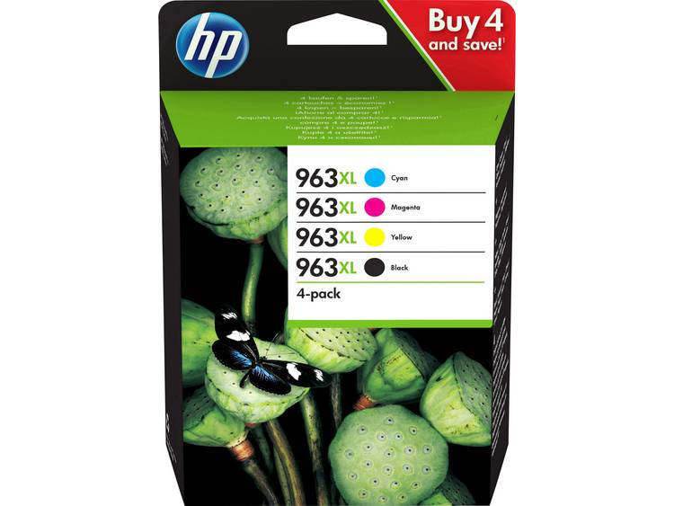 HP Cartridge 963XL Multipack Origineel Combipack Zwart Cyaan Magenta Geel 3YP