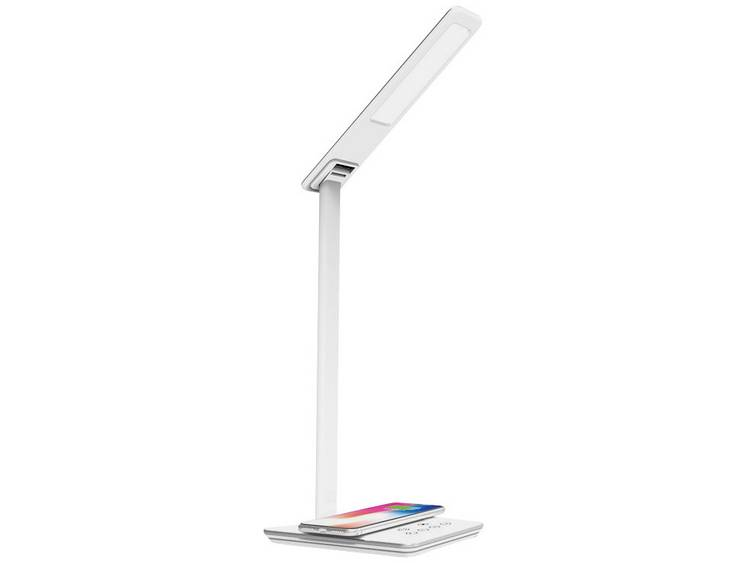 LEDmaxx 10TL03 LED-bureaulamp Energielabel: LED 12.5 W Warm-wit, Neutraal wit, Daglicht-wit Wit, Zilver