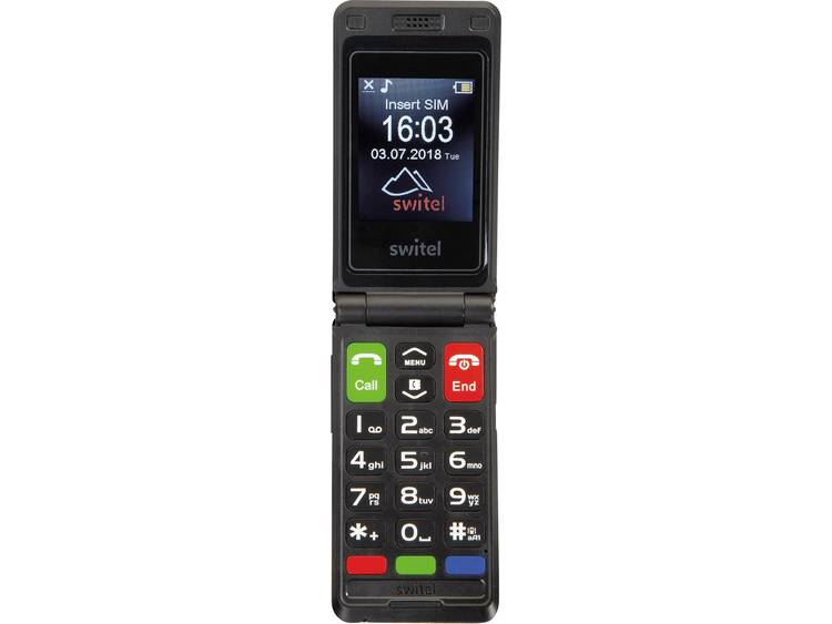 Switel M222 Senioren clamshell telefoon Zwart kopen