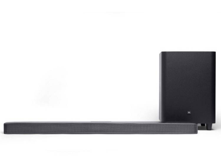 JBL Bar 5.1 Surround Soundbar Zwart Bluetooth, Incl. draadloze subwoofer, USB, W