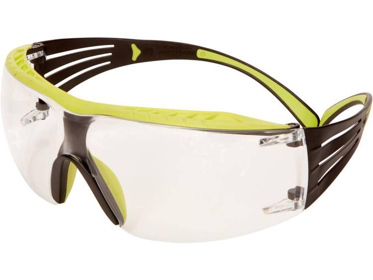3M SecureFit SF401XRAS-GRN Veiligheidsbril Incl. anticondens-bescherming Groen, Zwart kopen