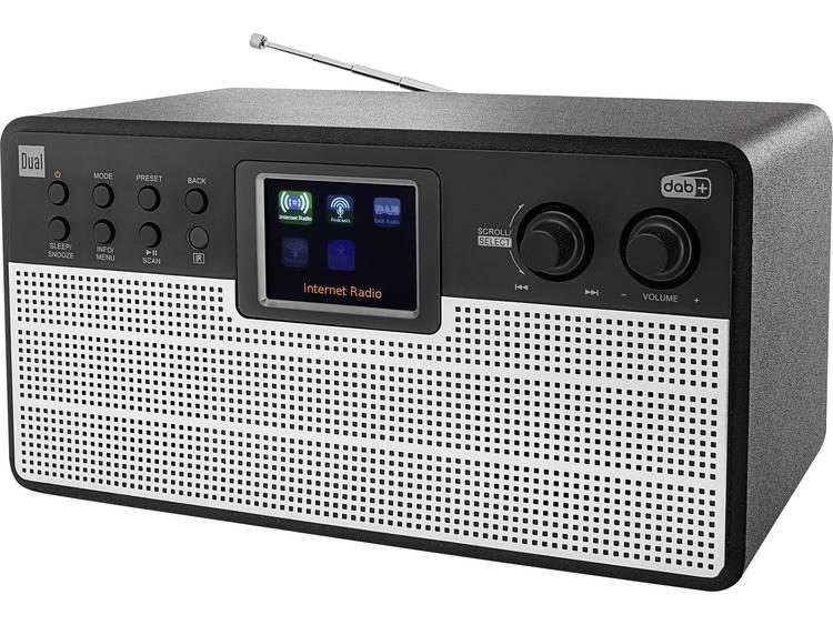 Dual Radiostation IR 100 DAB+ Bluetooth, WiFi, Internetradio Zwart, Zilver
