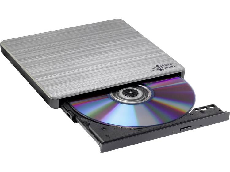 LG (GP60NS60) External Slimline DVD Re-Writer, USB, 8x, Grey, M-Disc Support, Power2Go