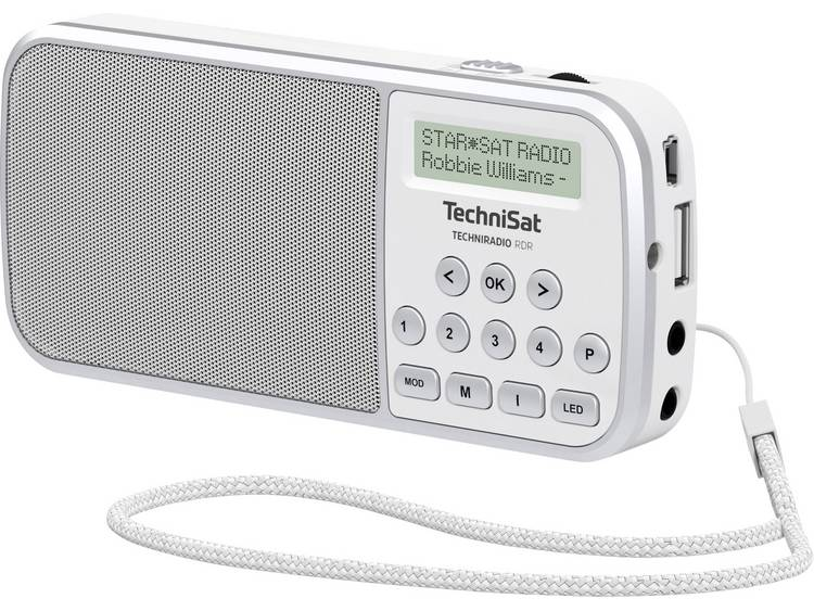 TechniSat Techniradio RDR Zakradio DAB+, FM AUX, USB Zaklamp Wit