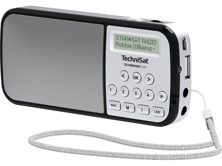 TechniSat Techniradio RDR Zakradio DAB+, FM AUX, USB Zaklamp Zilver