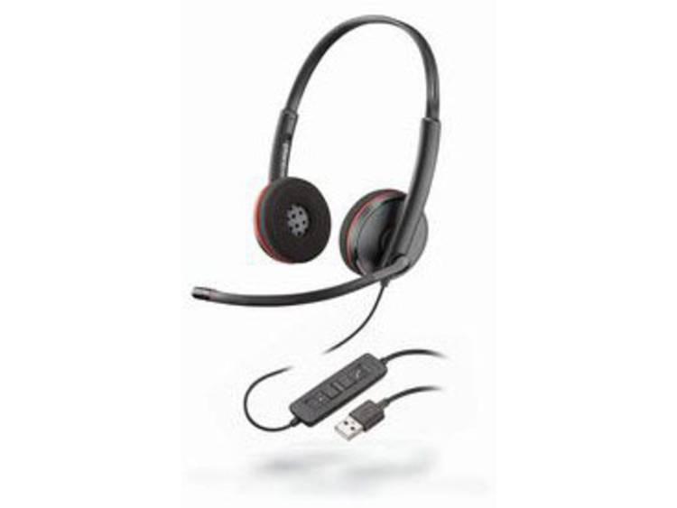 Plantronics Headset Blackwire C3220 binaural USB Telefoonheadset USB Kabelgebonden, Stereo On Ear Zwart