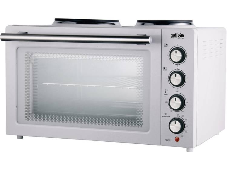 Silva KK 2900 Mini-oven Incl. kookplaat, Grillfunctie, Heteluchtfunctie, Met grillspies 30 l