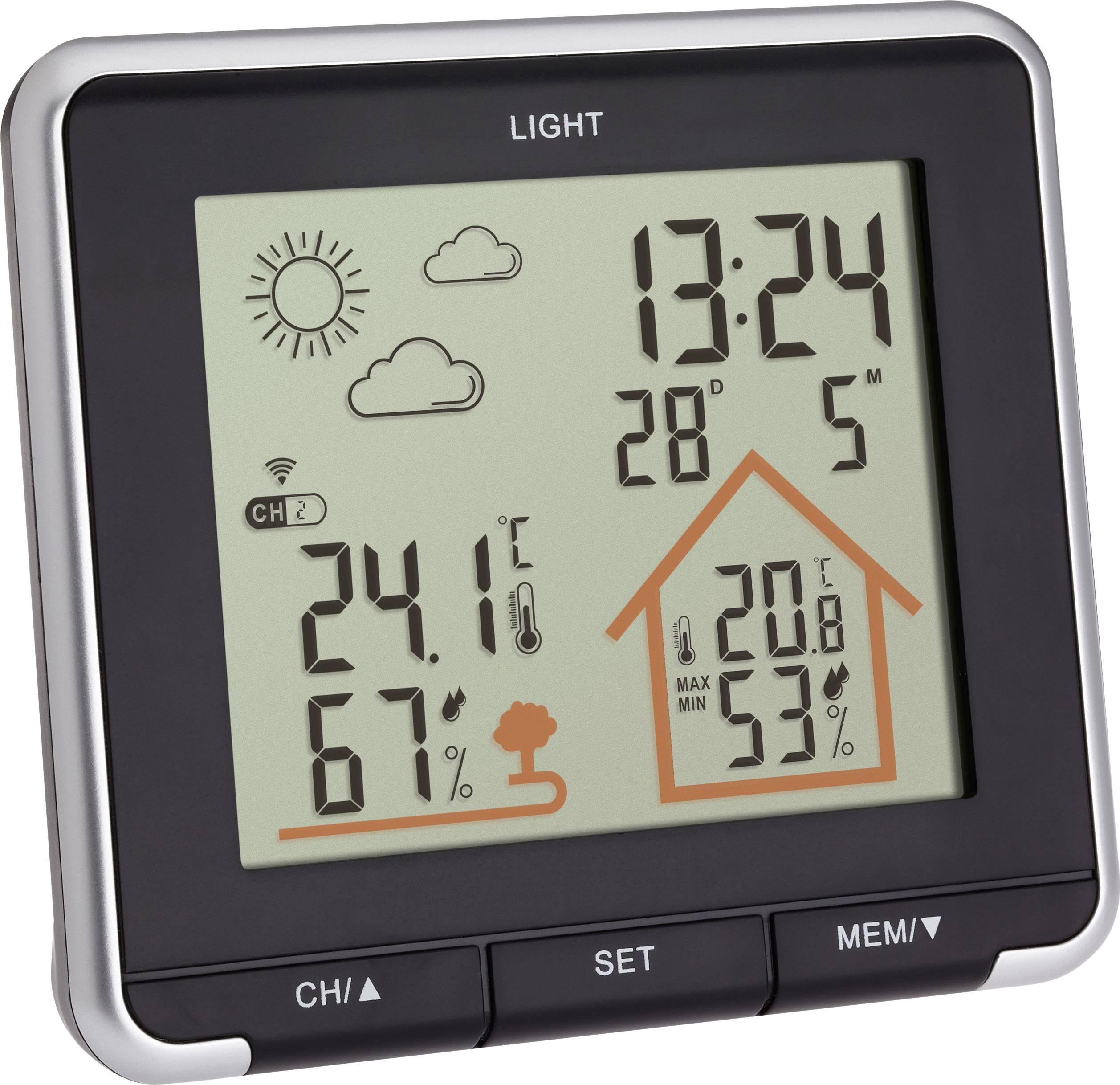 Conrad-TFA Dostmann LIFE 35.1153.01 Draadloos weerstation Voorspelling voor 12 tot 24 uur-aanbieding
