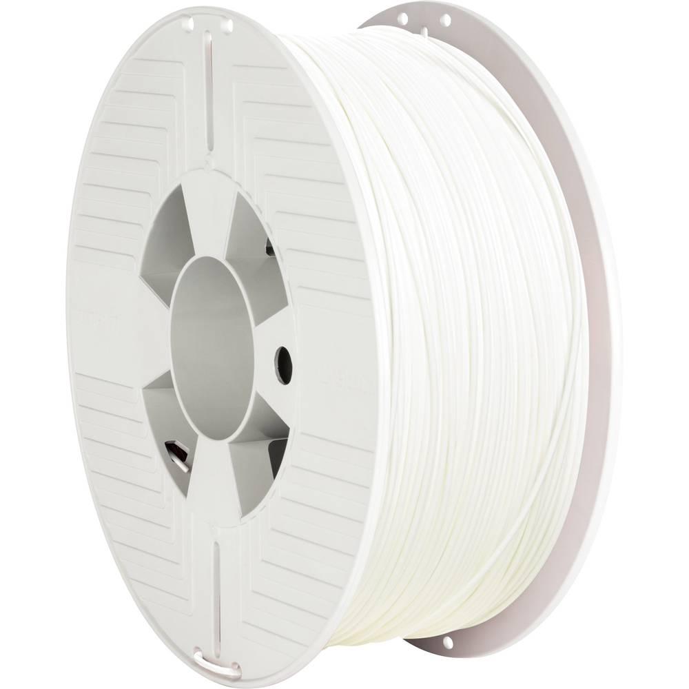 Verbatim 55315 3D-skrivare Filament PLA-plast 1.75 mm 1000 g Vit 1 st