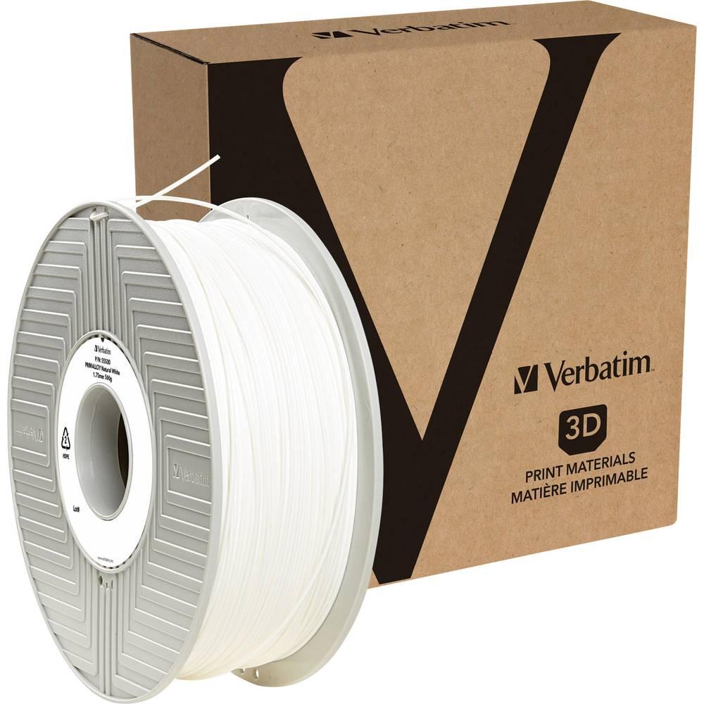 Verbatim 55510 3D-skrivare Filament 1.75 mm 500 g Vit 1 st