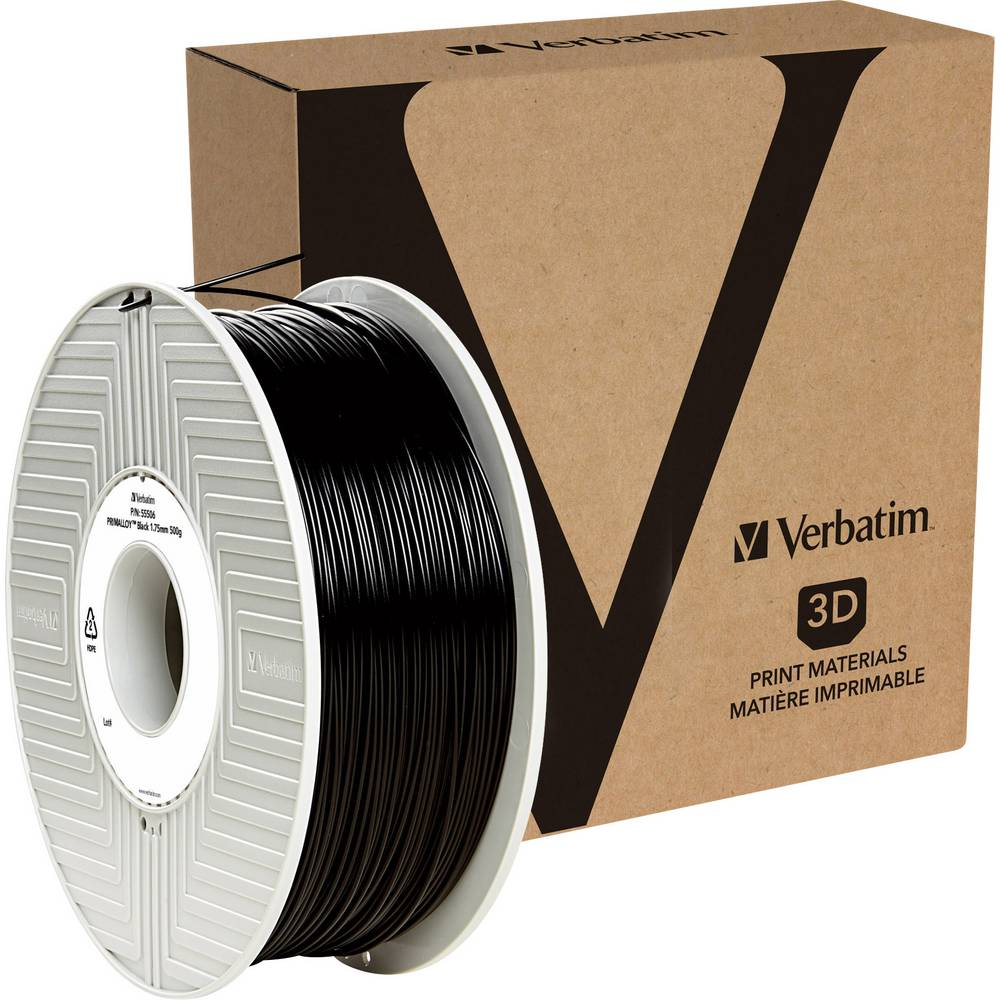 Verbatim 55513 3D-skrivare Filament TPE-plast 2.85 mm 500 g Svart 1 st