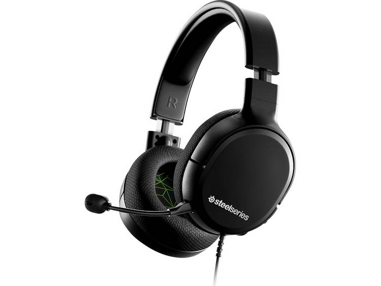 Steelseries Arctis 1 XBOX Gaming headset 3.5 mm jackplug Kabelgebonden Over Ear Zwart, Groen