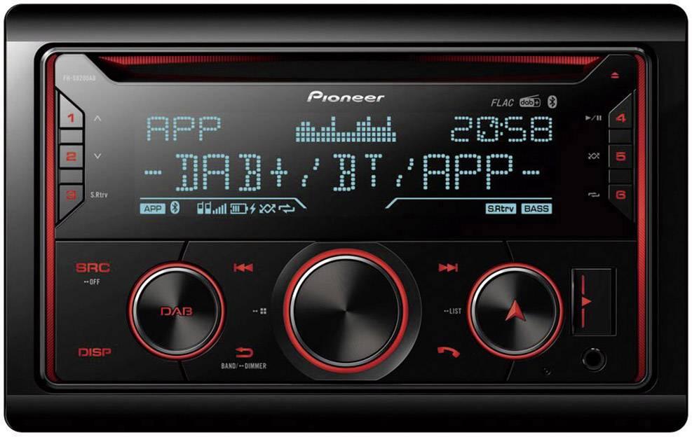 Conrad-Pioneer FH-S820DAB Autoradio dubbel DIN DAB+ tuner, Bluetooth handsfree, AppRadio-aanbieding