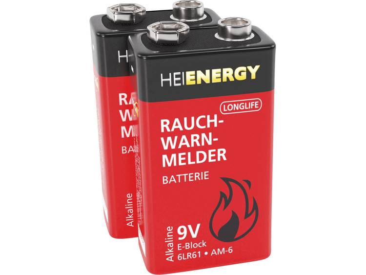 Heitech 9V batterij (blok) Alkaline 450 mAh 9 V 2 stuk(s)