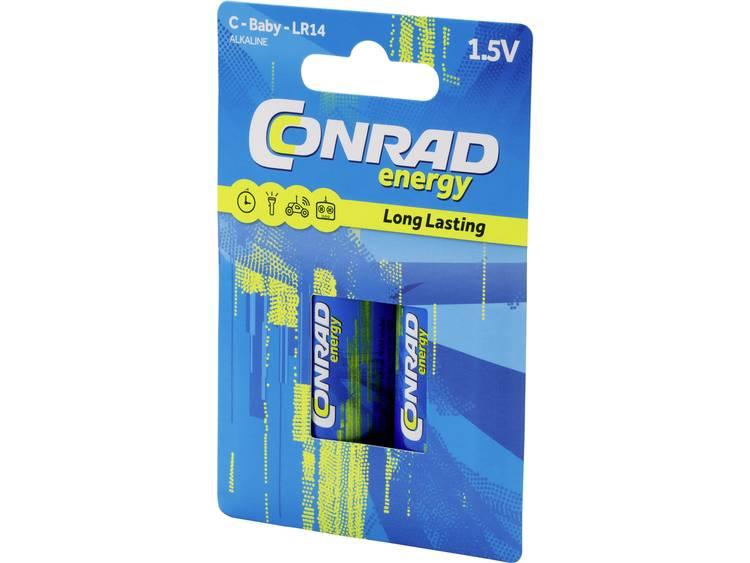 C batterij (baby) Conrad energy LR14 Alkaline 1.5 V 7500 mAh 2 stuk(s)