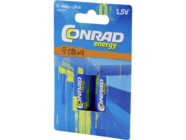 C batterij (baby) Conrad energy Extreme Power LR14 Alkaline 1.5 V 8000 mAh 2 stuk(s)