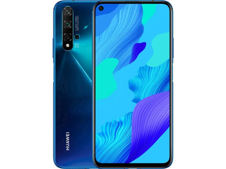 """HUAWEI Nova 5T Smartphone 128 GB 6.26 inch (15.9 cm) Single-SIM Androidâ""""¢ 9.1 48 Mpix, 16 Mpix, 2 Mpix, 2 Mpix Blauw kopen"""