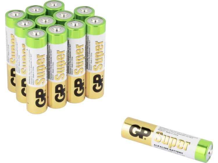 AAA batterij (potlood) GP Batteries Super 8+4 Alkaline 1.5 V 12 stuk(s)