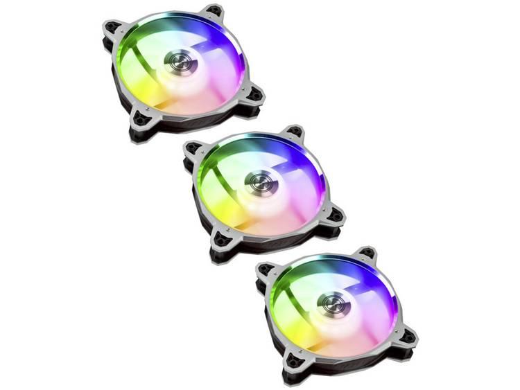 Lian Li 3x BR120 Digital RGB PWM PC-ventilator Zilver, Zwart, RGB (b x h x d) 120 x 120 x 27 mm