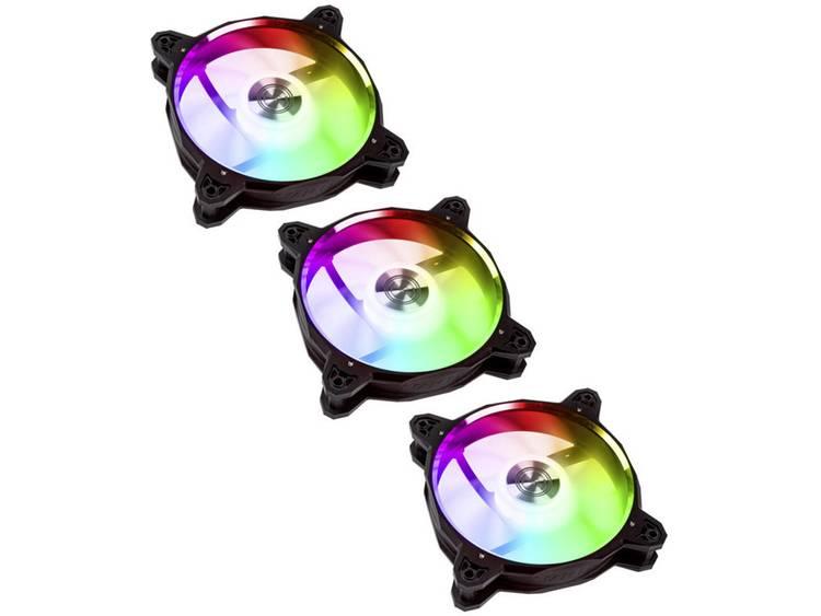Lian Li 3x BR120 Digital RGB PWM PC-ventilator Zwart, Zilver, RGB (b x h x d) 120 x 120 x 27 mm