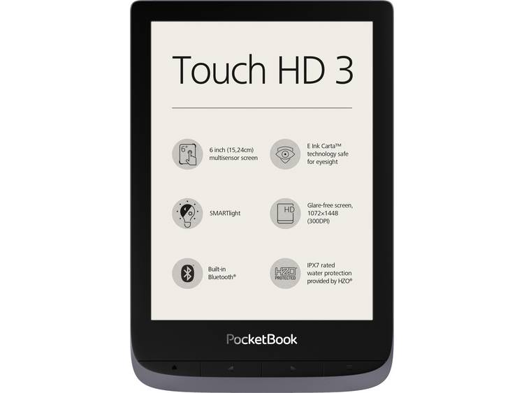 PocketBook Touch HD3 + Cover eBook-reader 15.2 cm (6 inch) Zwart, Grijs