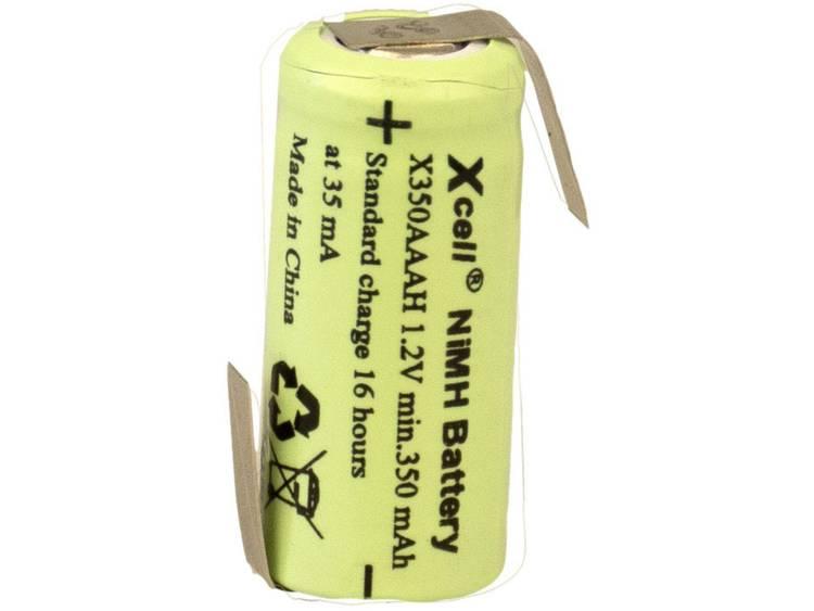 XCell X1/2AAAH-350-LFZ Speciale oplaadbare batterij 1/2 AAA Z-soldeerlip NiMH 1.2 V 350 mAh