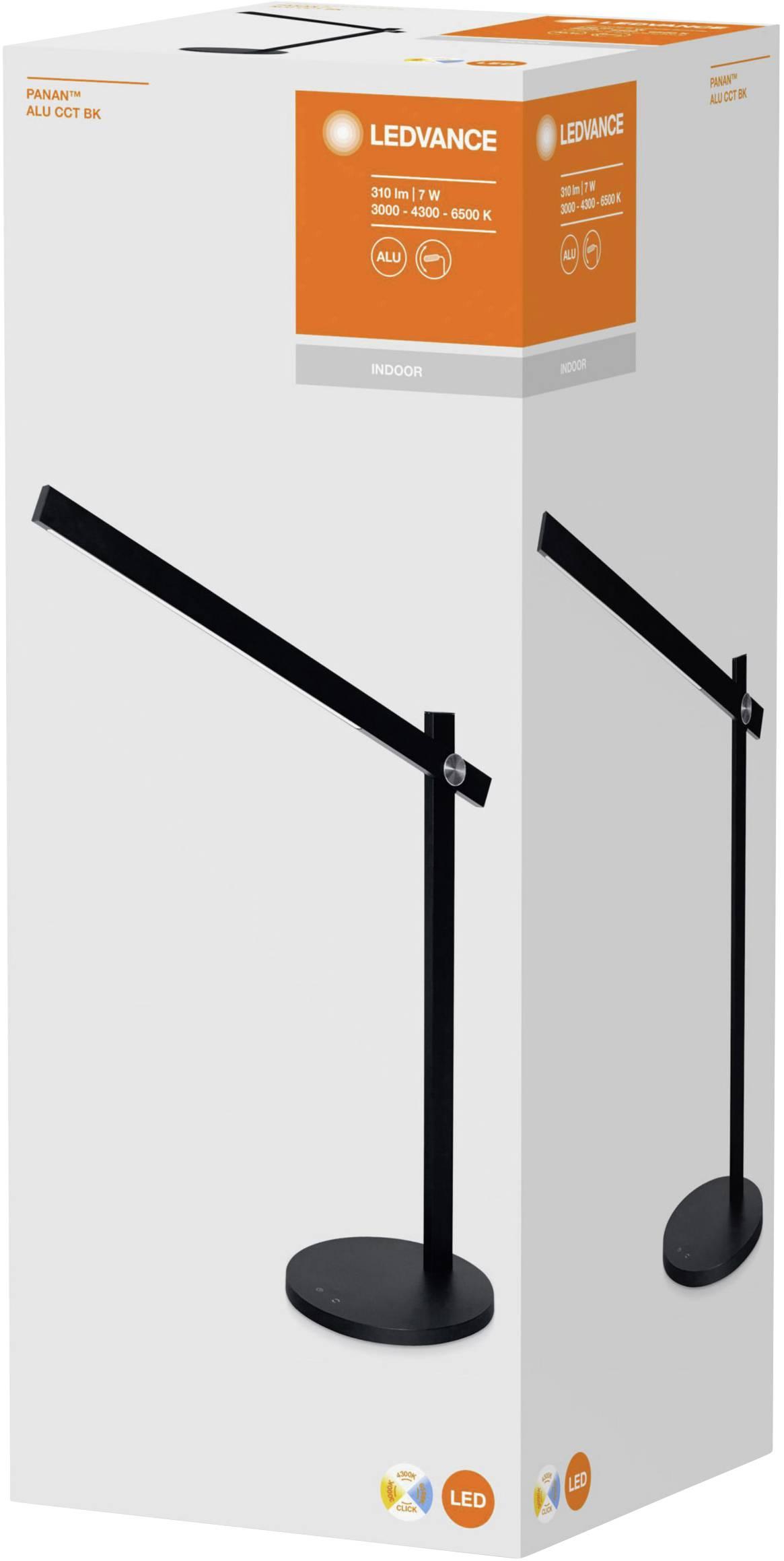 LEDVANCE PANAN Alu CCT L 4058075321281 Bureaulamp 7 W Warm wit, Koud wit, Daglicht wit Zwart (mat)
