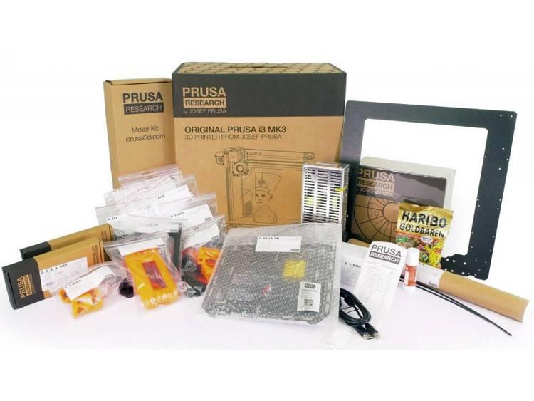 Prusa i3 MK3S 3D-printer bouwpakket Verwarmd printbed, Geschikt voor alle soorten filament, Incl. fi