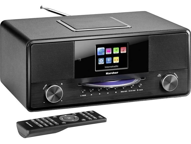 Karcher DAB 9000CDi Radio/CD-speler met internetradio DAB+, DAB, Internet, FM Bl
