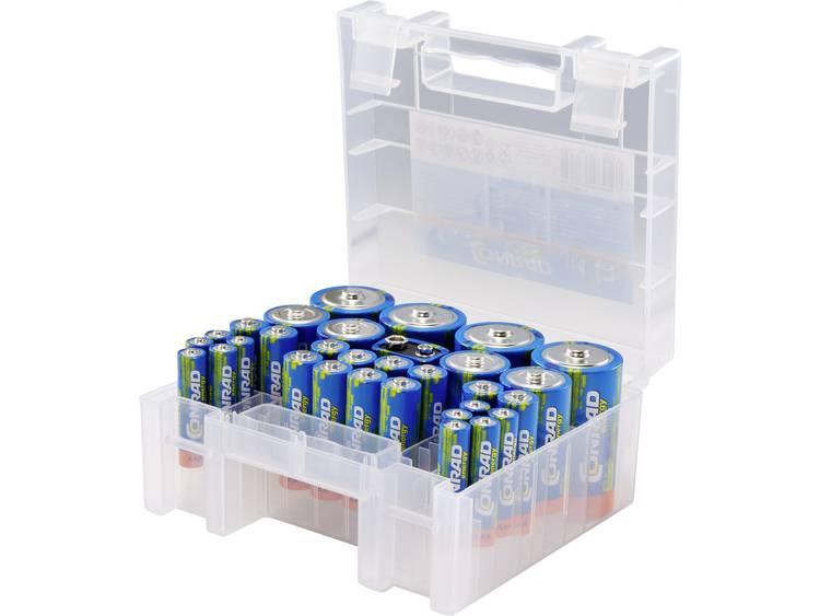 Conrad energy Batterijset AA, AAA, C, D, 9 V 31 stuk(s) Incl. box