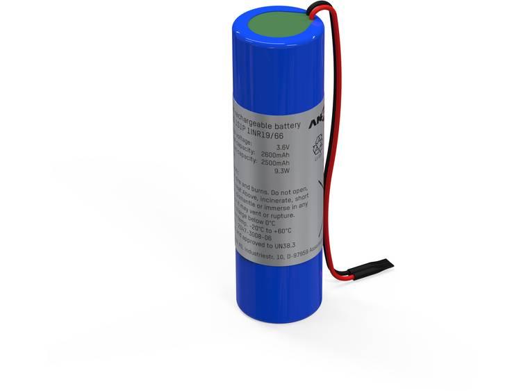 Ansmann 1S1P Speciale oplaadbare batterij 18650 Kabel Li-ion 3.6 V 2600 mAh