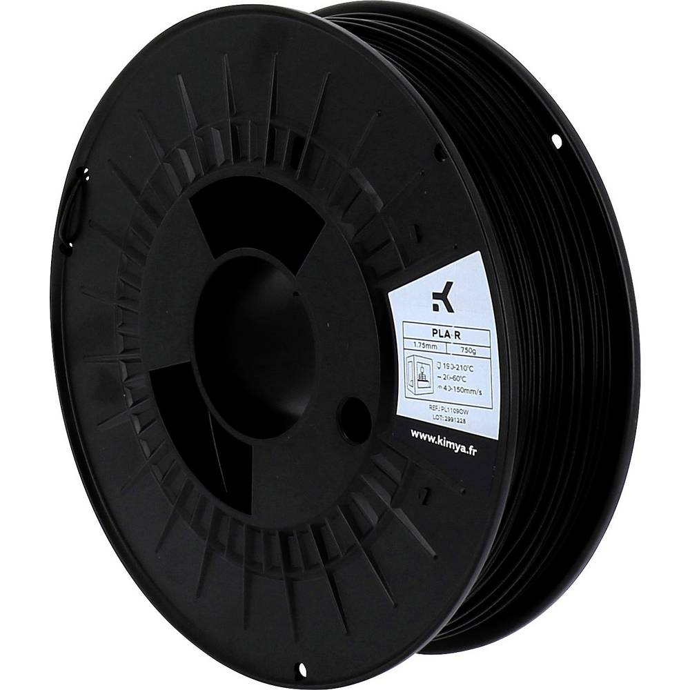 Kimya PL1109OW PLA-R 3D-skrivare Filament PLA-plast 1.75 mm 750 g Svart 1 st