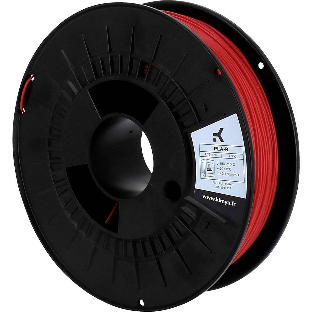 Kimya PL1115OW PLA-R 3D-skrivare Filament PLA-plast 1.75 mm 750 g Röd 1 st