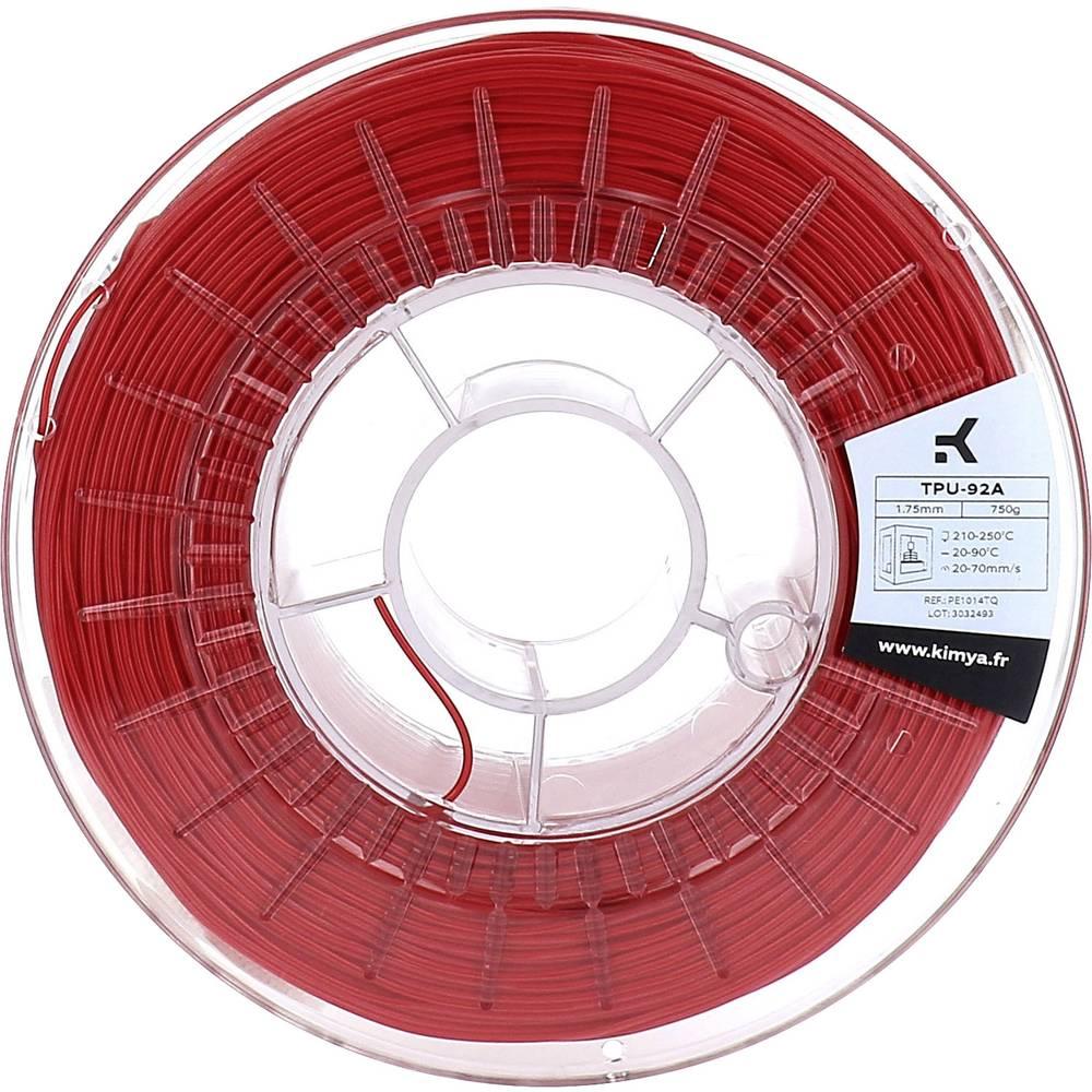 Kimya PE1014TQ TPU-92A 3D-skrivare Filament TPU 1.75 mm 750 g Röd 1 st