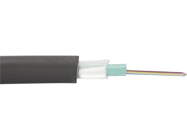 Digitus DK-35041/4-U Glasvezelkabel A/I-DQ (ZN) BH 50/125 µ Multimode OM4 Zwart Per meter
