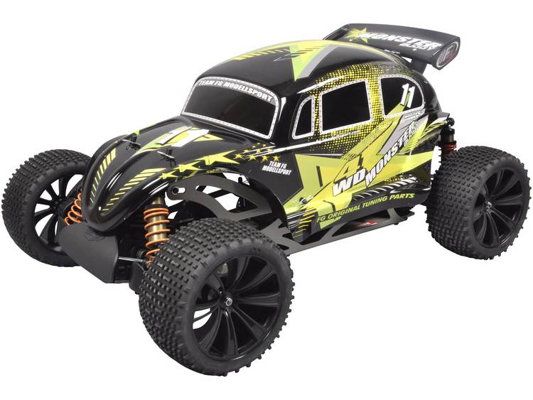 FG Modellsport Monster Buggy RTR 1:6 RC auto Benzine Buggy 4WD RTR 2,4 GHz Incl. accu, oplader en ba