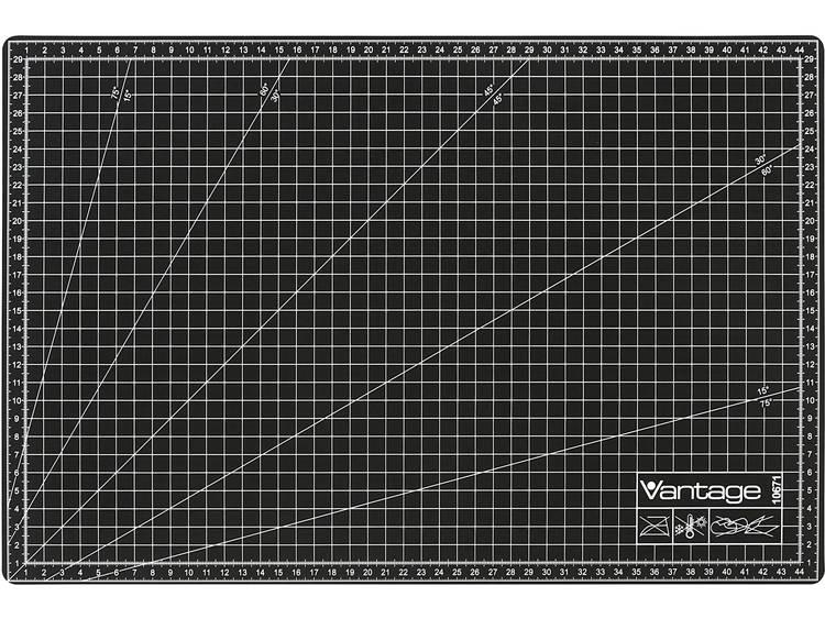 dahle Schneidematte 30 x 45 cm schwarz VANTAGE Snijmat