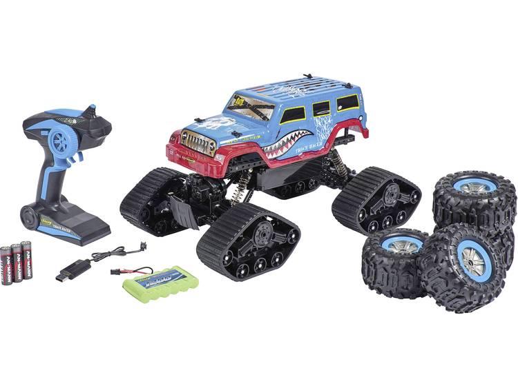 Carson Modellsport Track Racer 1:10 RC auto Elektro Rupsvoertuig 4WD 2,4 GHz Incl. accu, oplader en