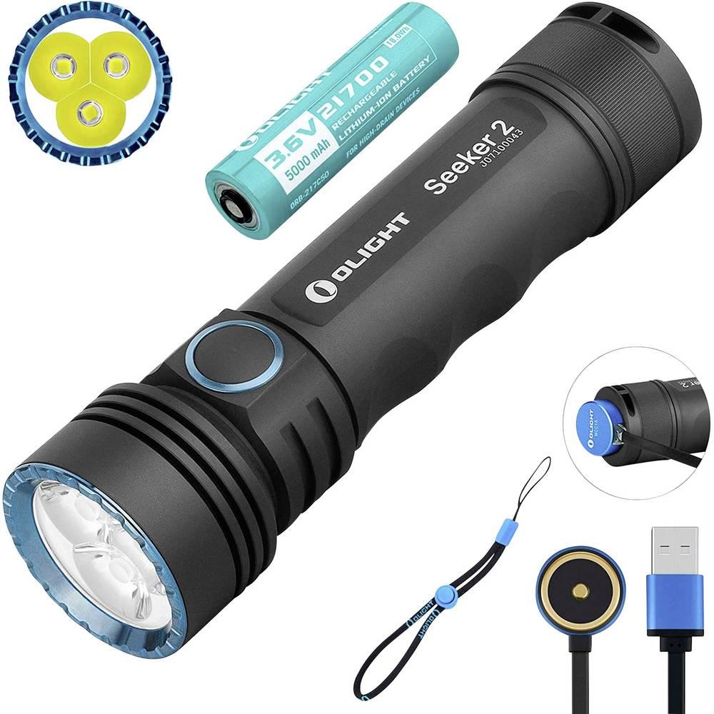 OLight Seeker 2 LED Ficklampa Uppladdningsbara batteri 3000 lm 360 h 185 g