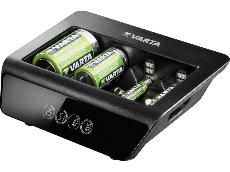 Varta LCD Universal-Plus Batterijlader NiMH AAA (potlood), AA (penlite), C (baby), D (mono), 9 V (bl