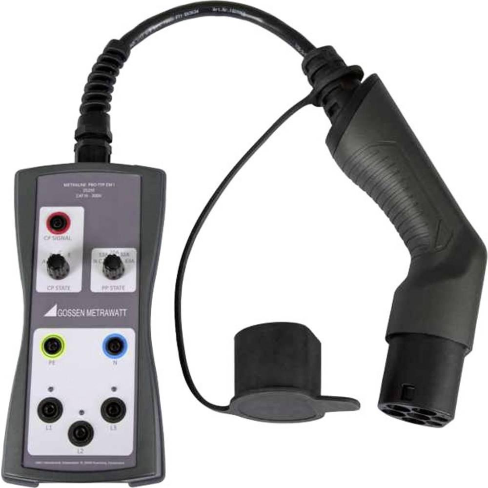Gossen Metrawatt Z525G METRALINE PRO-TYP EM II Adapteruttag 1- och 3-fasig kontrolladapter för kontroll av E-laddningspunkter METRALINE PRO-TYP EM II. 1 st