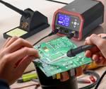 Professioneel soldeerstation met twee soldeerbouten, 230 W